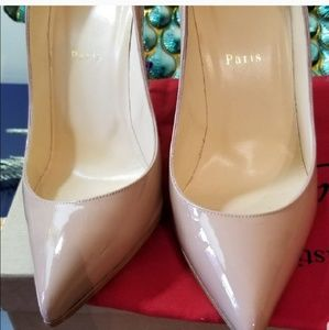 39 1/2 Authentic Christian Louboutin Pigalle Folle